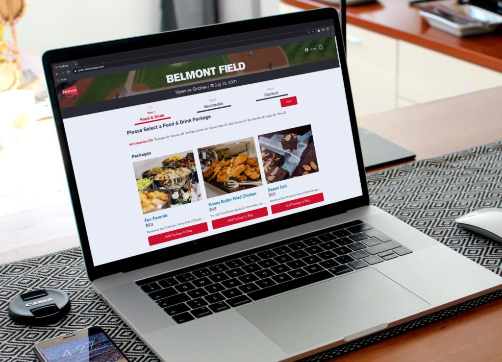 fanfood premium suite meal booking